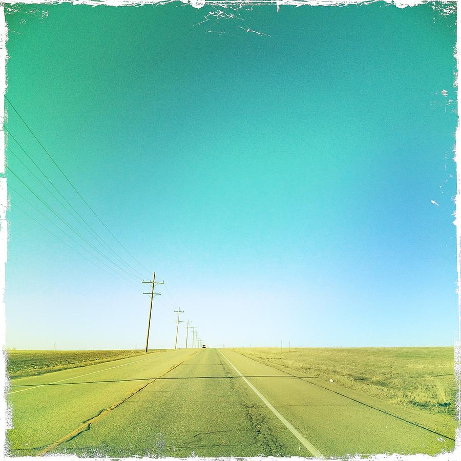 Square Photograph - Open Road by A L Christensen
