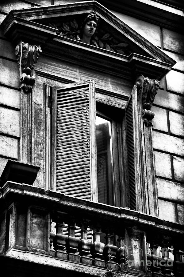 Shutter Photograph - Open Shutter In Rome by John Rizzuto