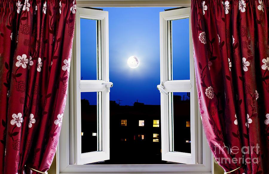 Open Window At Night Photograph By Simon Bratt Photography LRPS