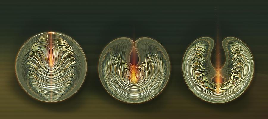 Abstract Digital Art - Opening by Li   van Saathoff