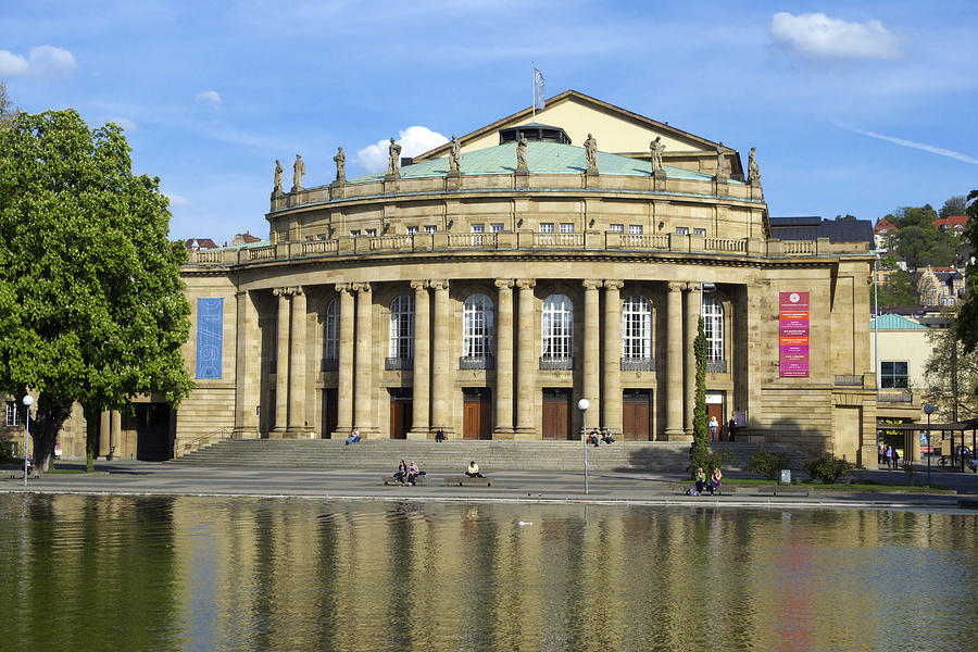 Opera And Theater Building In Stuttgart Germany Photograph