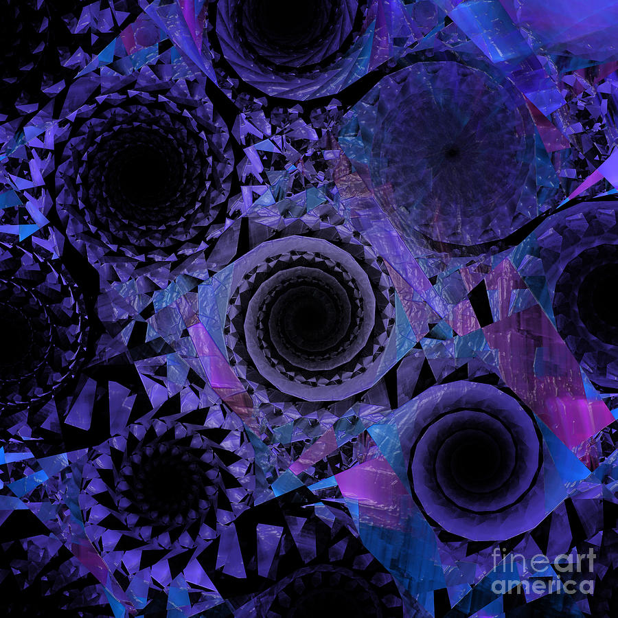 Abstract Digital Art - Optical Illusion by Andee Design