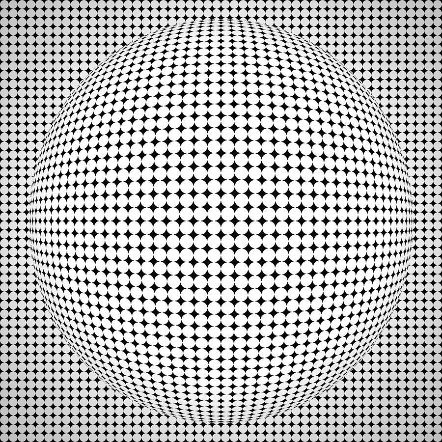 Optical Illusion Ball Digital Art By Sumit Mehndiratta