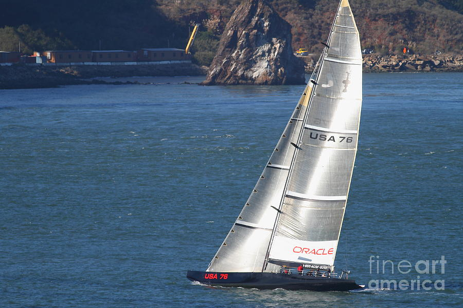 San Francisco Photograph - Oracle Racing Team Usa 76 International Americas Cup Sailboat . 7d8069 by Wingsdomain Art and Photography