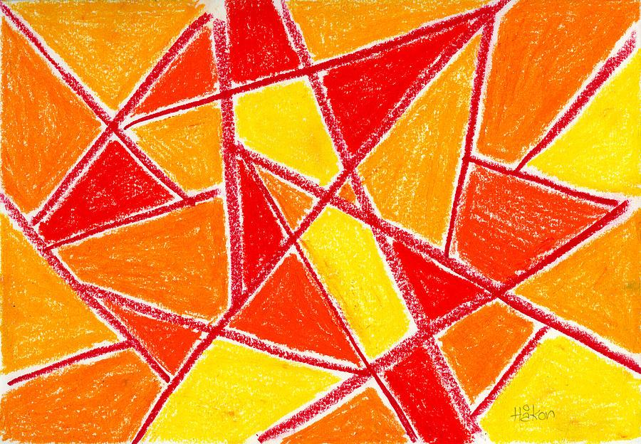 Orange Drawing - Orange Abstract by Hakon Soreide