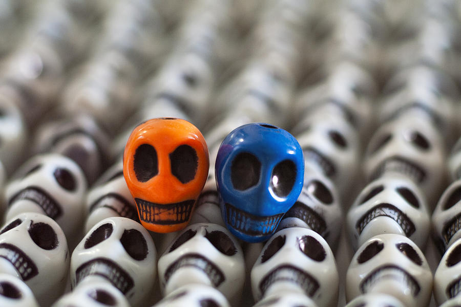 Smiles Photograph - Orange And Blue by Mike Herdering