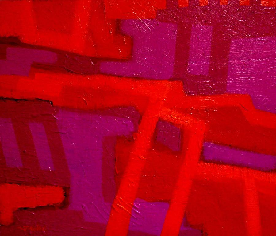 Modern Painting - Orange And Magenta by John  Nolan