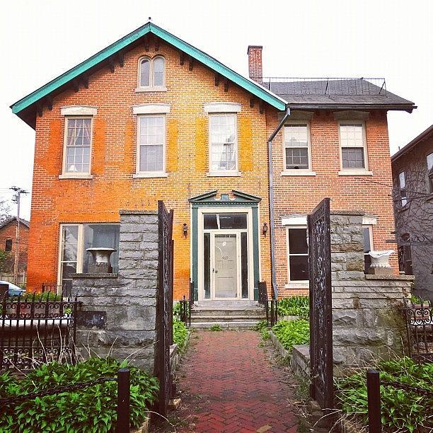 House Photograph - #orange #brick #house #buffalo by Jenna Luehrsen