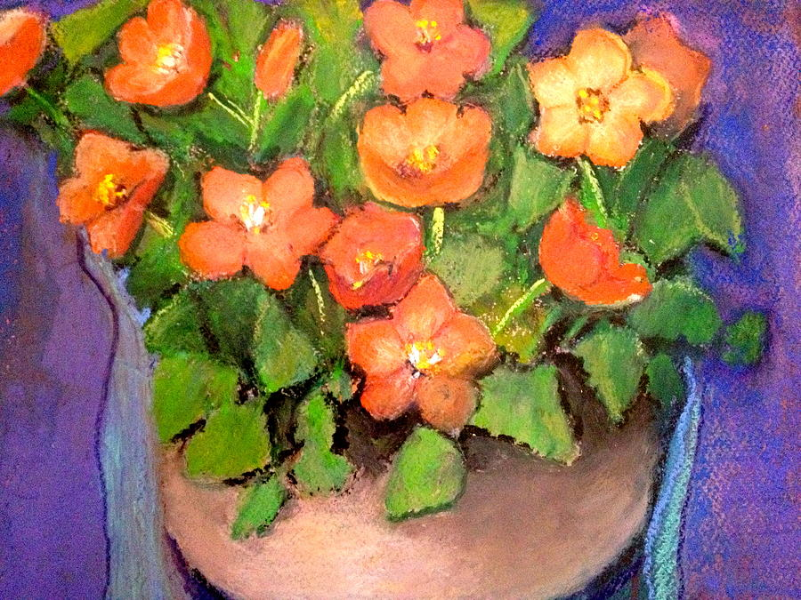 Still Life Painting - Orange Flower by Giti Ala