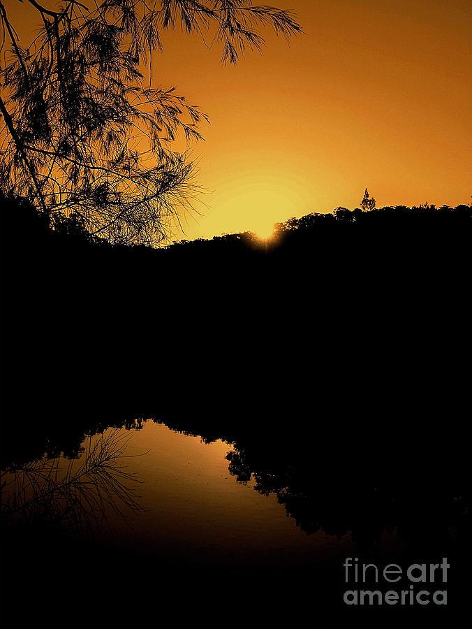 Landscape Photography Photograph - Orange Glow by Kaye Menner
