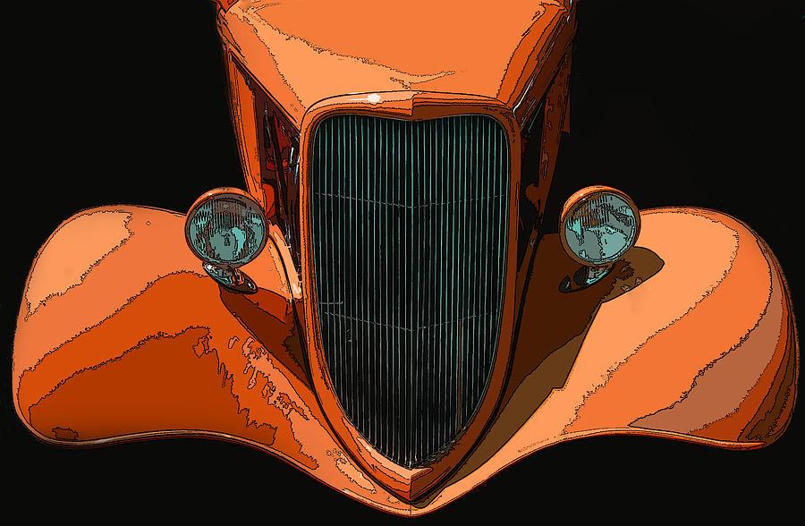 Orange Jalopy Photograph - Orange Jalopy by Samuel Sheats