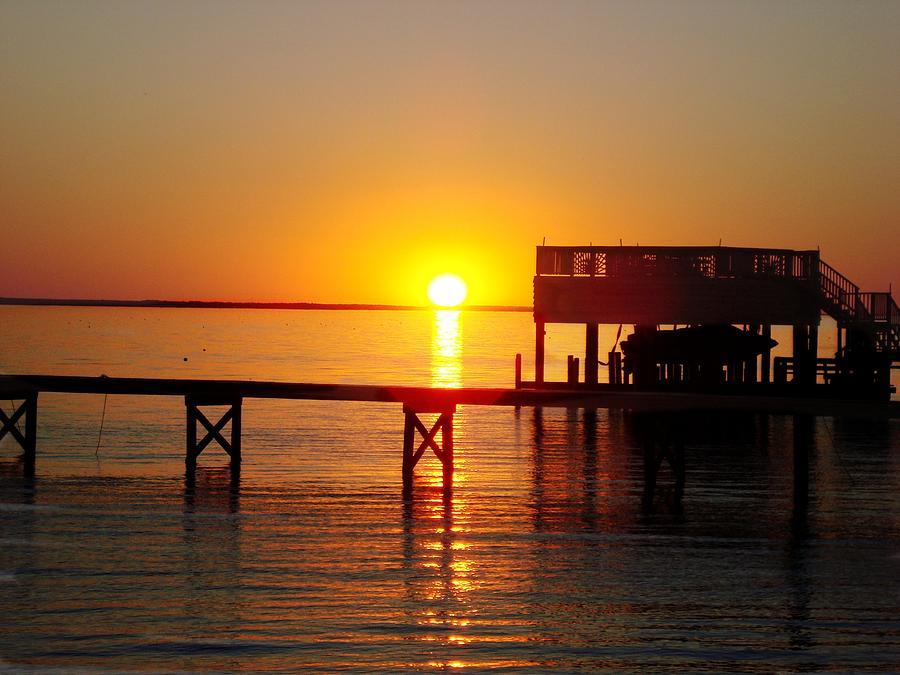 Sun Set Photograph - Orange Sky by Joan Meyland