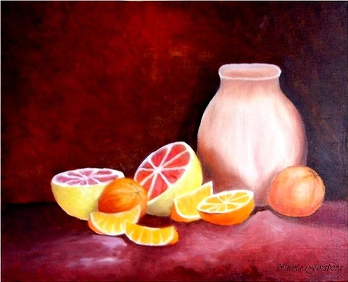 Fruit Painting - Orange Still Life by Carola Ann-Margret Forsberg