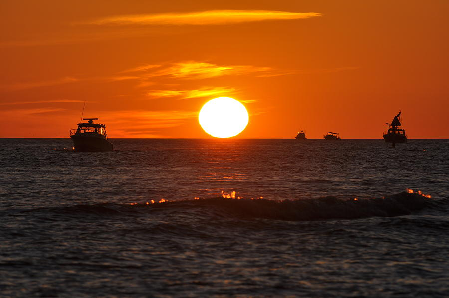 Sunset Photograph - Orange Sunset I by Christine Stonebridge