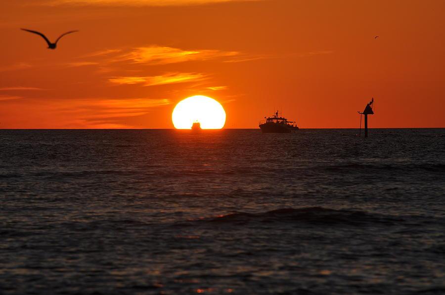 Sunset Photograph - Orange Sunset II by Christine Stonebridge
