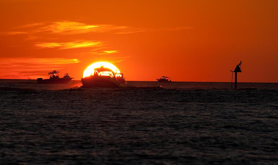 Sunset Photograph - Orange Sunset IIi by Christine Stonebridge