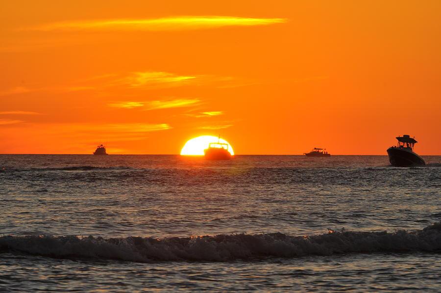 Sunset Photograph - Orange Sunset V by Christine Stonebridge
