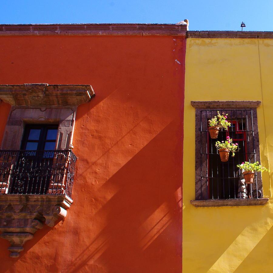 San Miguel De Allende Photograph - Orange Yellow Blue 2 by Anthony George