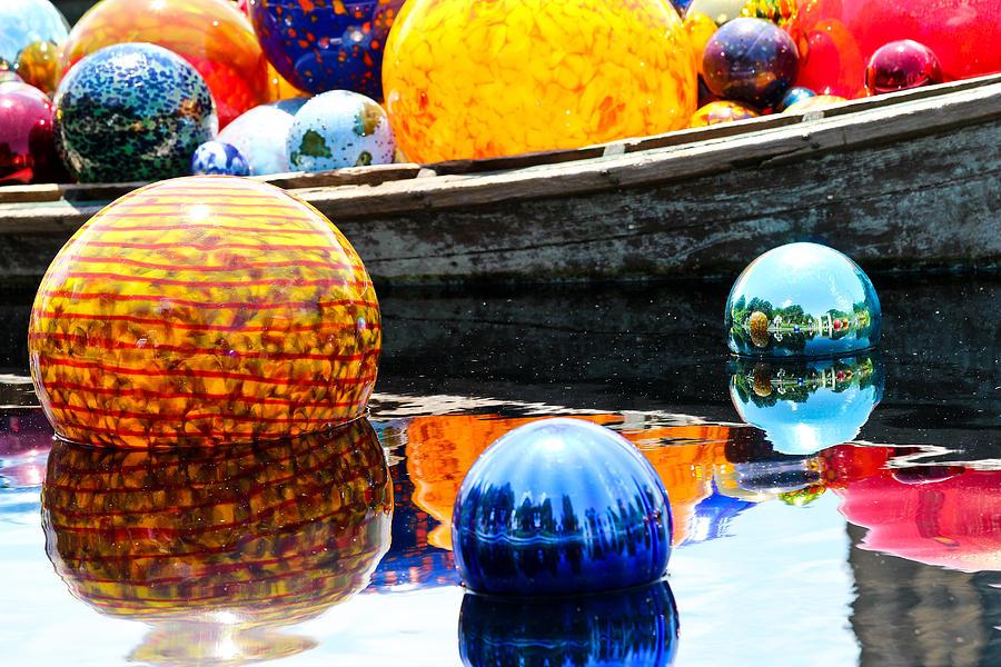 Ball Photograph - Orbs by Elizabeth Hart