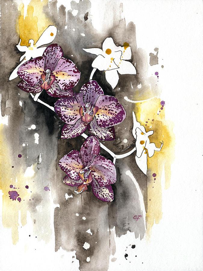 Orchid Painting - Orchid 13 Elena Yakubovich by Elena Yakubovich