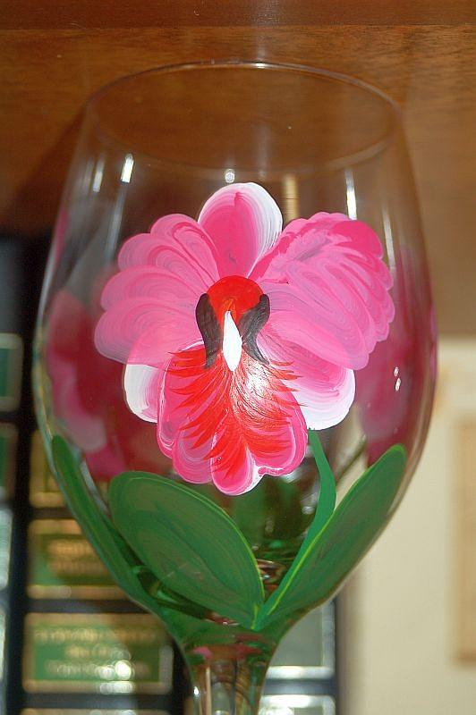 Orchid Glass Art by Jayne Strahm
