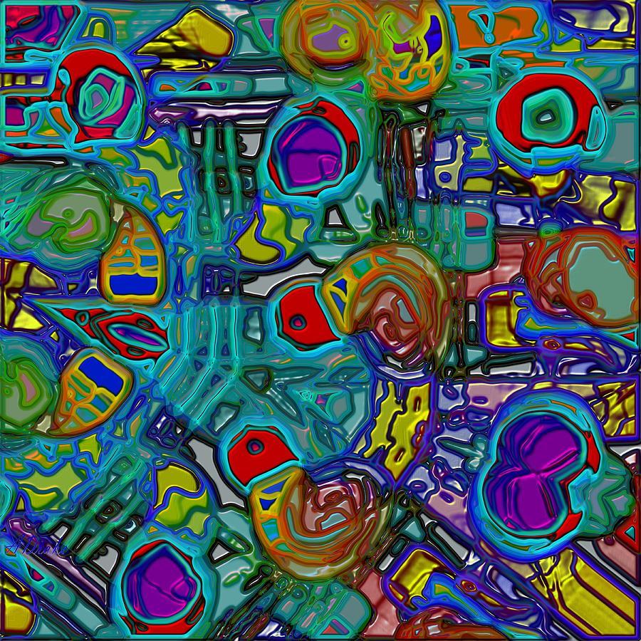 Chaos Digital Art - Organized Chaos by Alec Drake