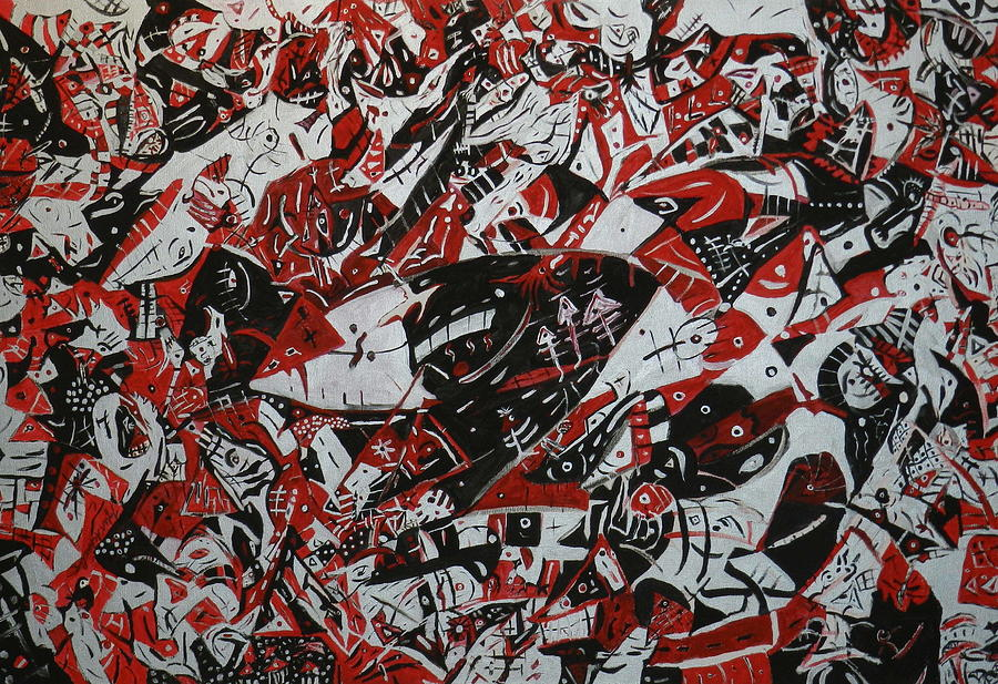 Red Brick Road Painting - Organized Chaos by Tyler Schmeling