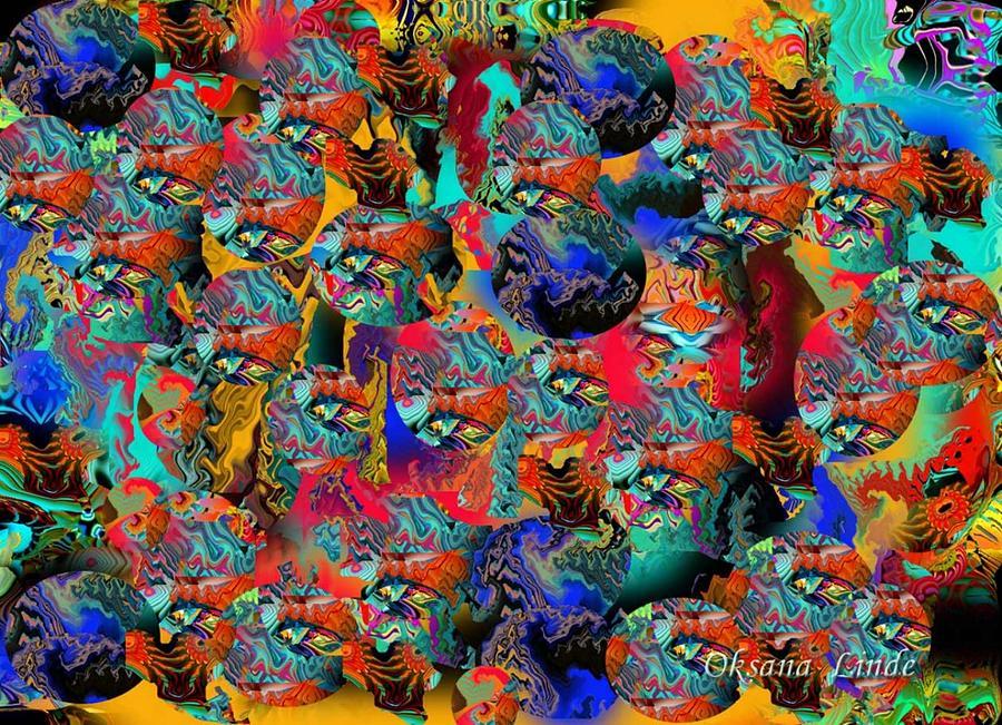 Digital Digital Art - Oriental Fantasy by Oksana Linde