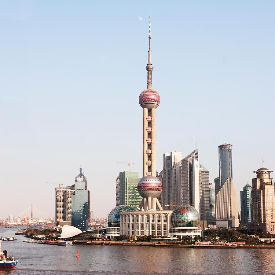 China Shanghai Scenery Wall Stickers Oriental Pearl Tv: Oriental Pearl Tower In Shanghai Photograph By Roy Hsu