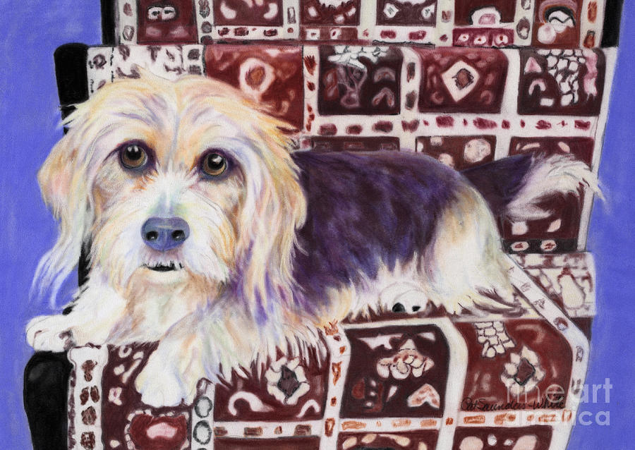 Lapdog Pastel - Oriental Toy by Pat Saunders-White