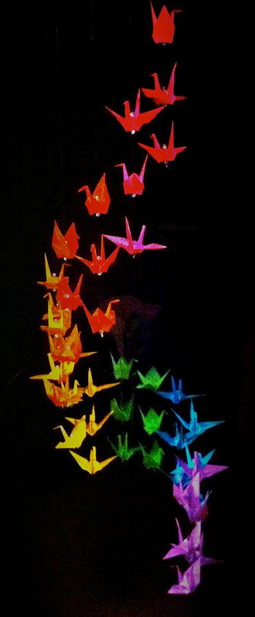 Origami Crane Mobile Mixed Media By Nichol Albertson