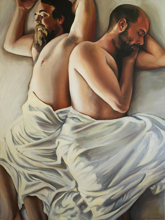 Bed Painting - Origin Of Love 1 by Emily Jones