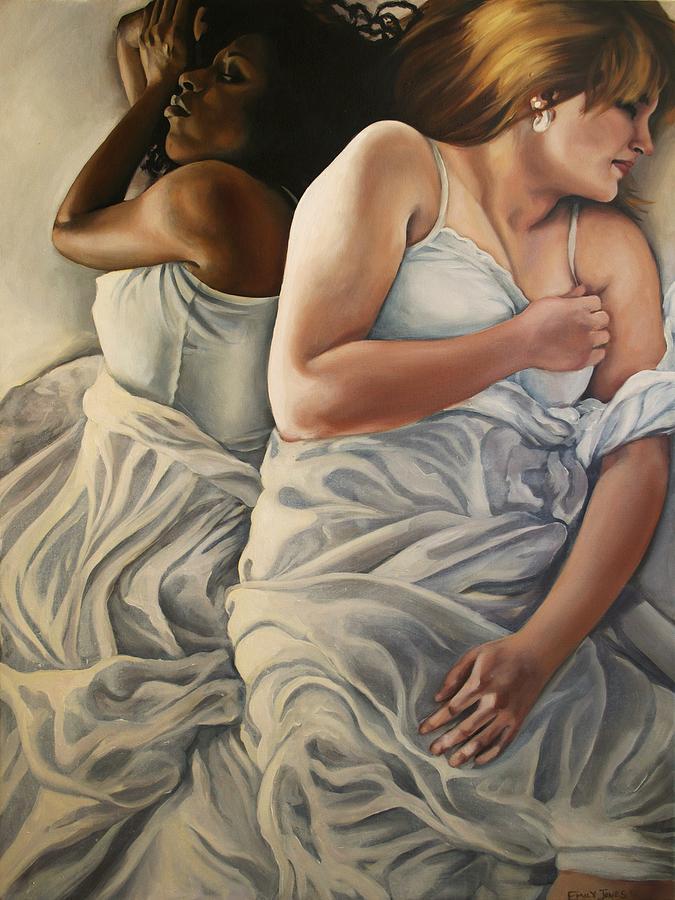 Bed Painting - Origin Of Love 2 by Emily Jones