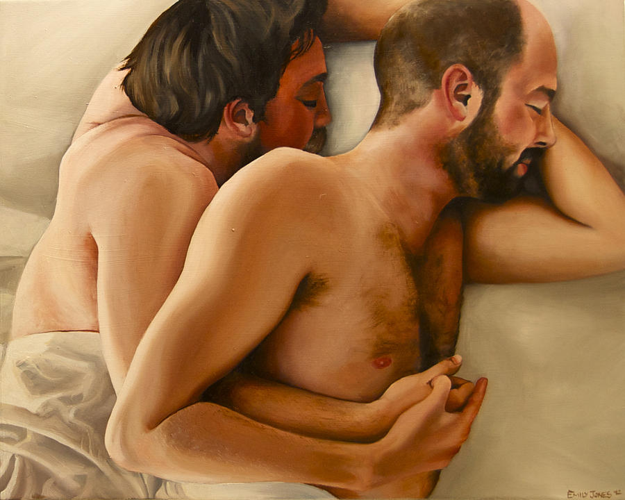 Bed Painting - Origin Of Love 3 by Emily Jones