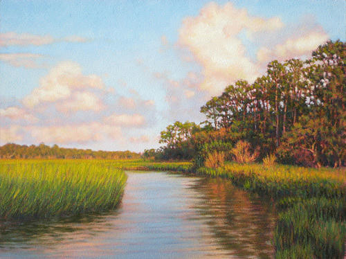 Marsh Scenes Painting - Original  Afternoon On Jekyll Island by Michael Story