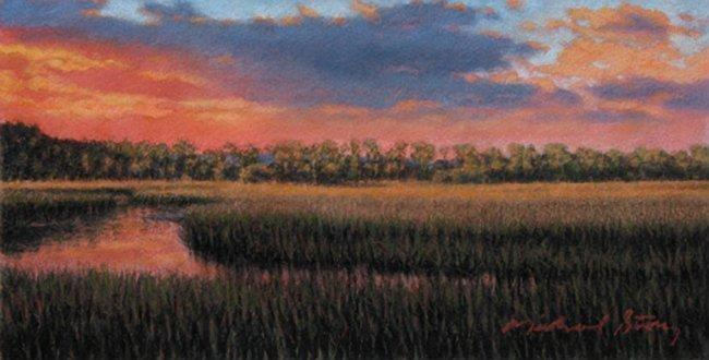Sc Painting - Original Distant Hues by Michael Story