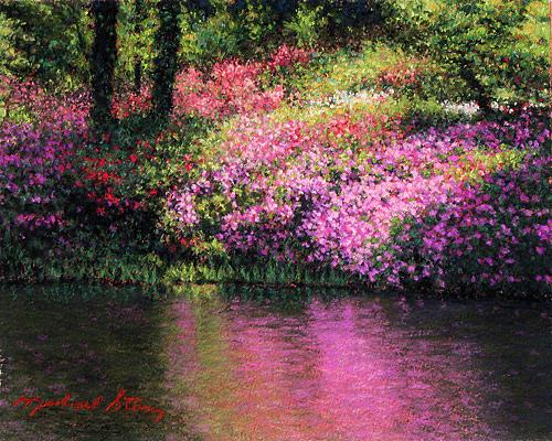 Marsh Scenes Painting - Original Full Bloom by Michael Story