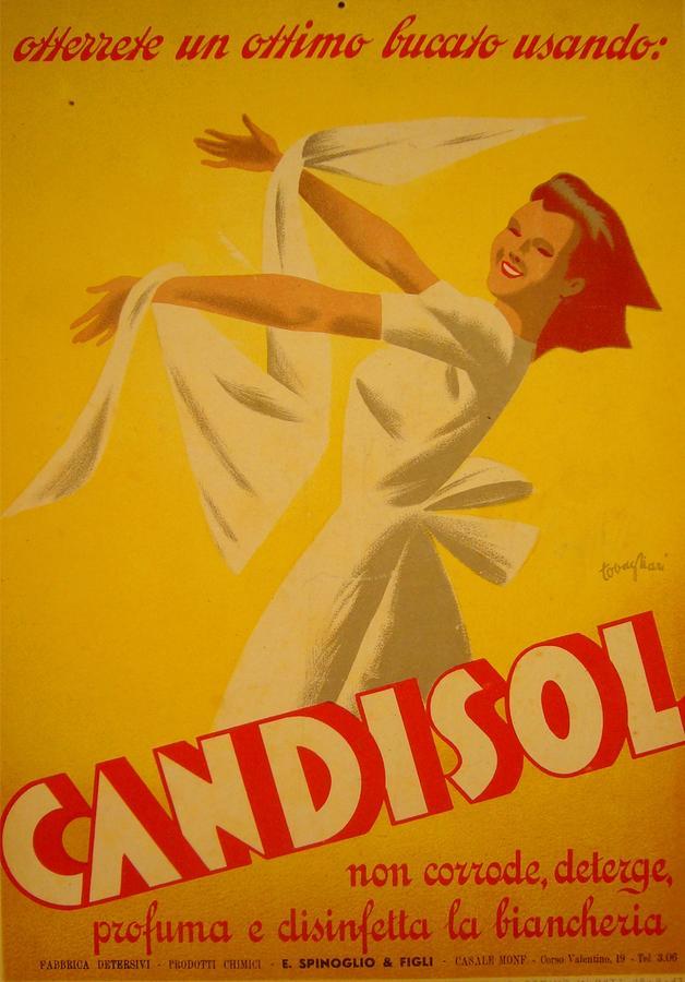 Italy Drawing - Original Italian Advertising Carton 1940s Candisol by Tovagliari