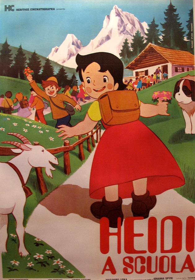 Heidi Painting - Original Oversize Movie Poster - Heidi - Italian Version by Unknown