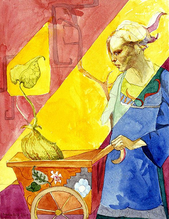 Women Painting - Origins 2 by Ellen Dreibelbis