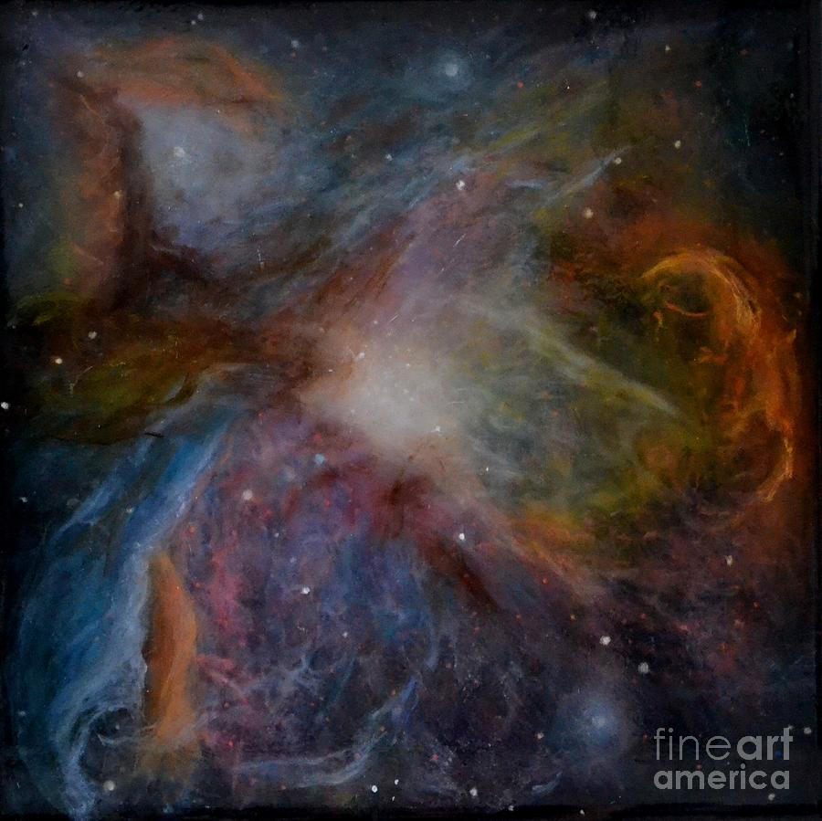 Orion Nebula Painting By Alizey Khan