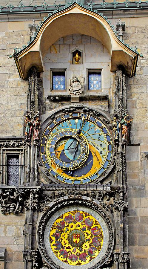 Astronomy Photograph - Orloj - Prague Astronomical Clock by Christine Till