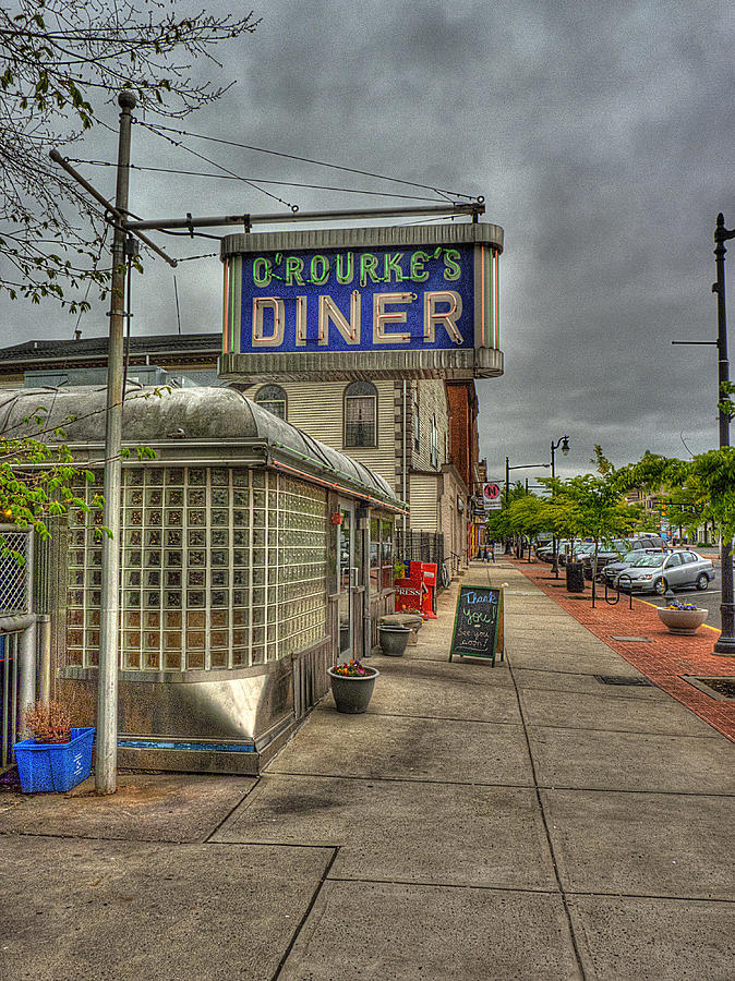 O'rourke's Diner Photograph - Orourkes by William Fields