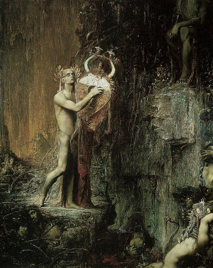 Orpheus Painting - Orpheus by Pierre Amedee Marcel-Beronneau