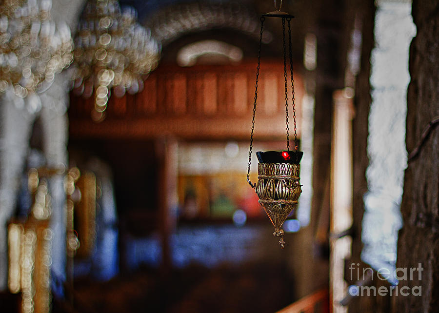 Candle Photograph - Orthodox Church Oil Candle by Stelios Kleanthous