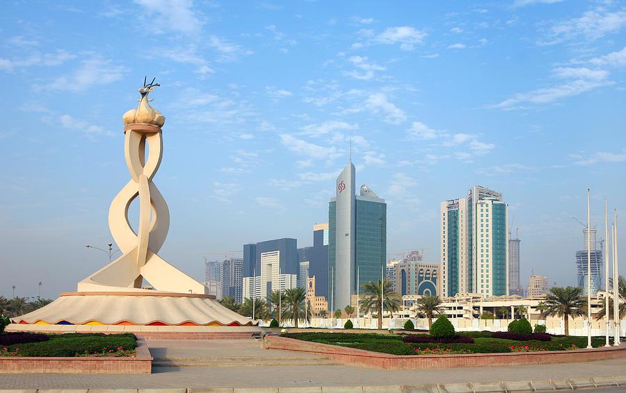 Landmark Photograph - Oryx Roundabout In Qatar by Paul Cowan