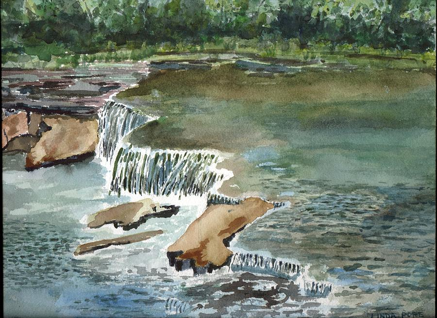 Waterfall Painting - Osage Hills by Linda Pope