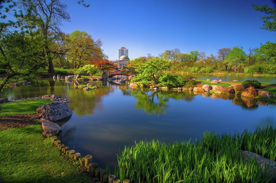 Japanese Garden Photograph - Osaka Garden Pond by Jonah  Anderson