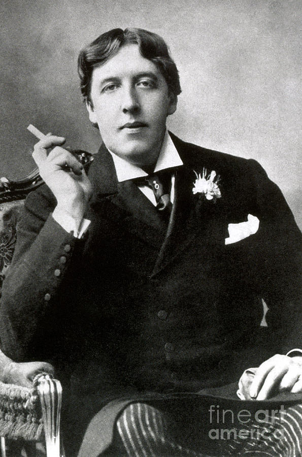 History Photograph - Oscar Wilde, Irish Author by Photo Researchers