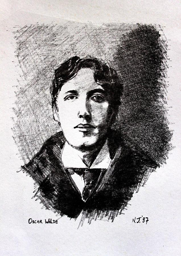 Pencil Drawing - Oscar Wilde by John  Nolan